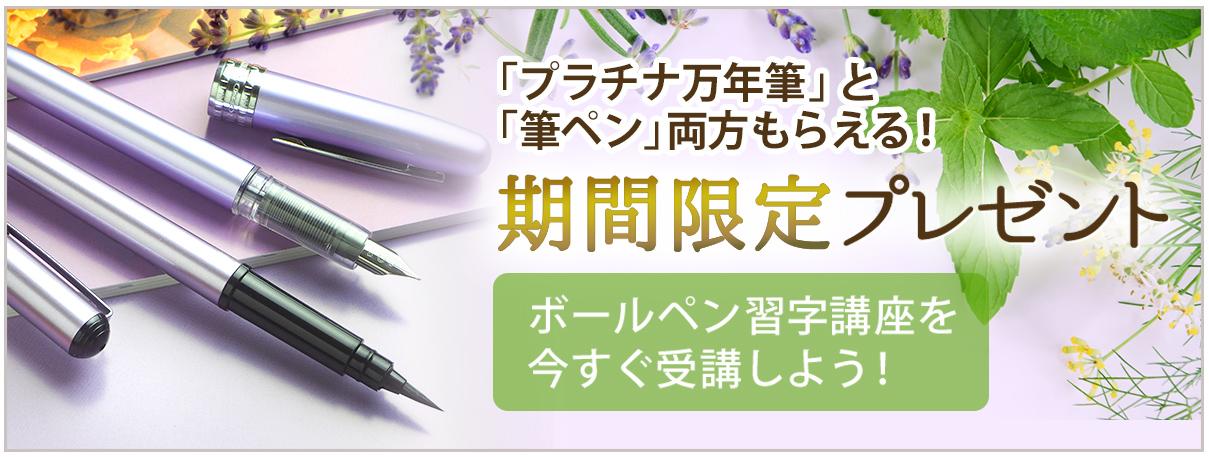 万年筆と筆ペンをプレゼント