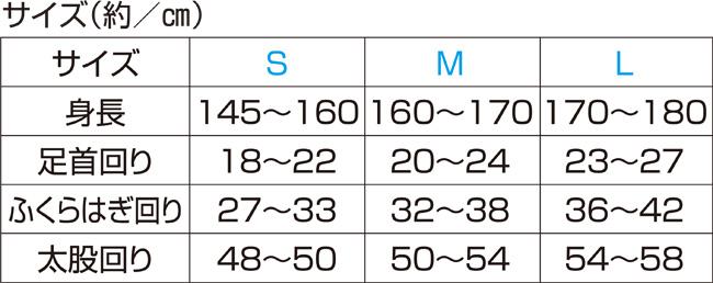 ギロファ・コンプレッソフィクスサポーターサイズ表