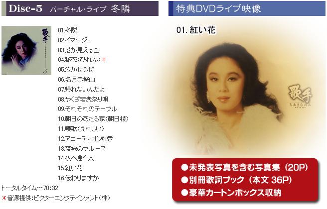 歌手 -ちあきなおみ- CD+DVDボックス 【がくぶん特選館の通信 ...