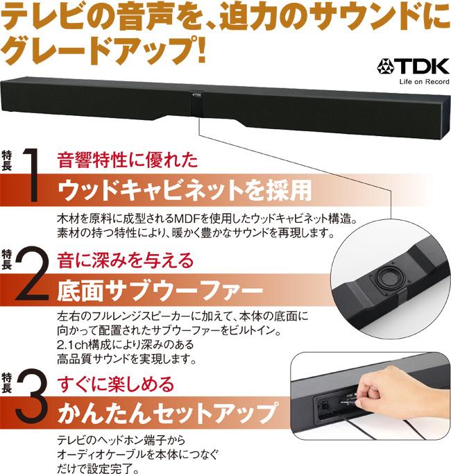 TDK テレビ用木製スピーカー画像1