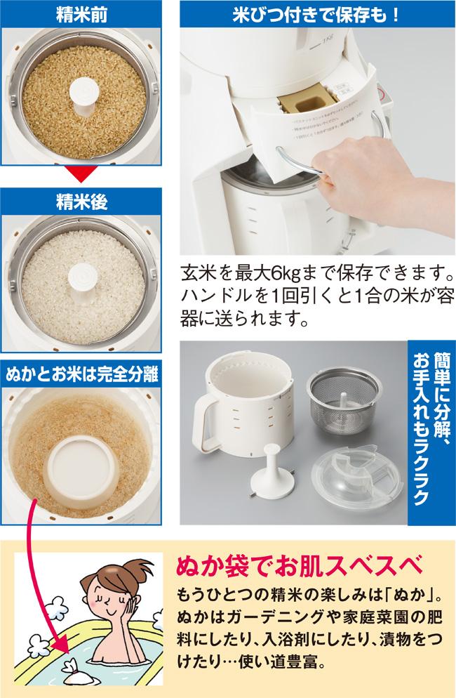 米びつ付精米器画像2