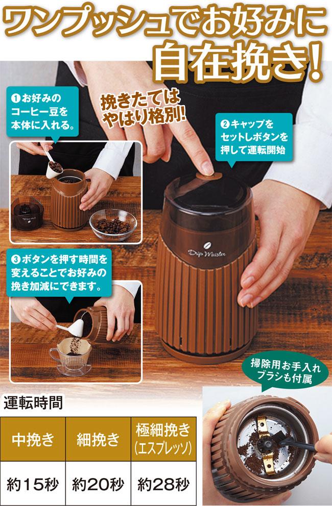 電動コーヒー豆ミル画像1
