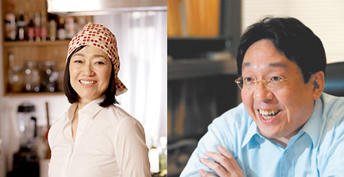 医学博士の山岸昌一先生、料理家・タカコナカムラ先生
